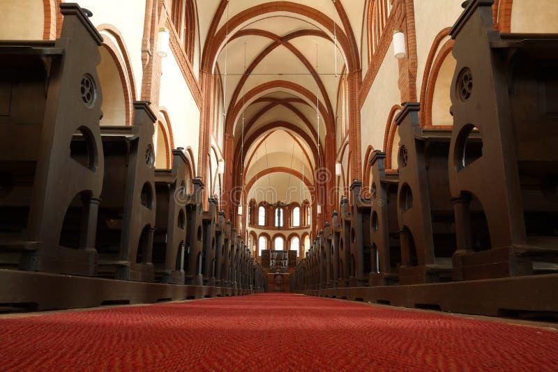 Dentro da igreja no monastério Lehnin imagens de stock royalty free