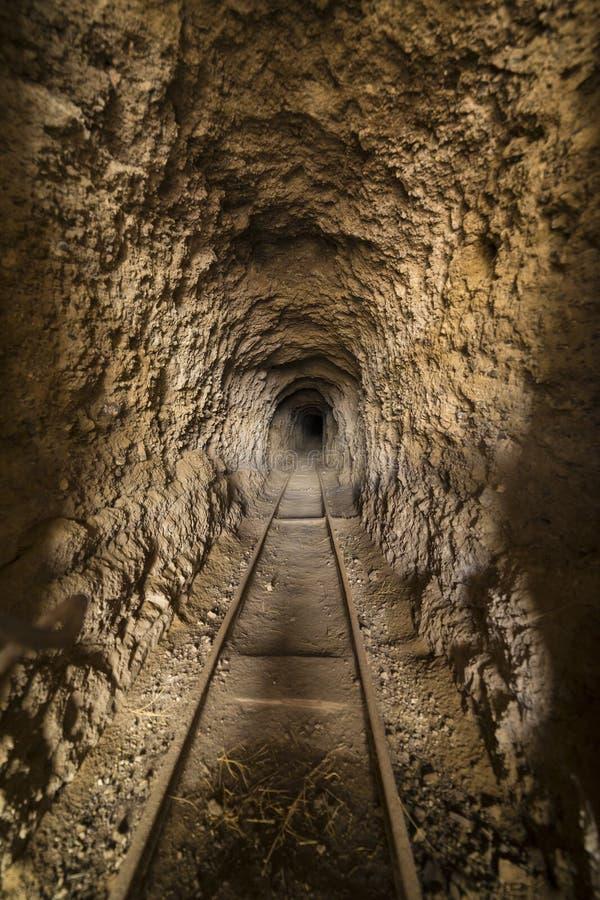 Dentro da mina de ouro abandonada o túnel ou o eixo no Nevada abandonam fotografia de stock royalty free