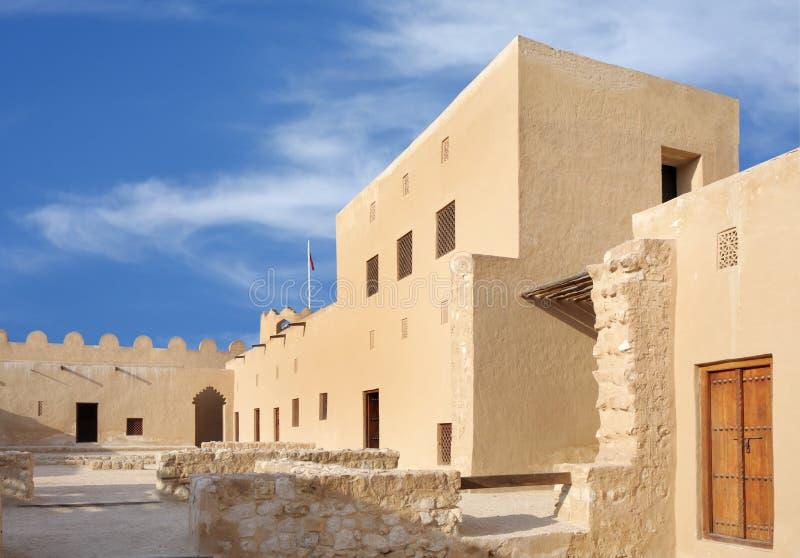 Dentro da parcela ocidental da vista de forte de Riffa, Barém fotografia de stock royalty free