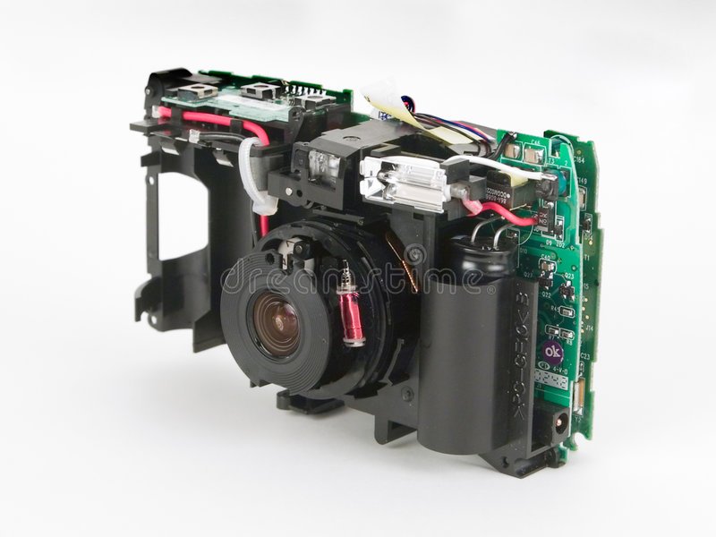 Dentro de cámaras digitales fotografía de archivo