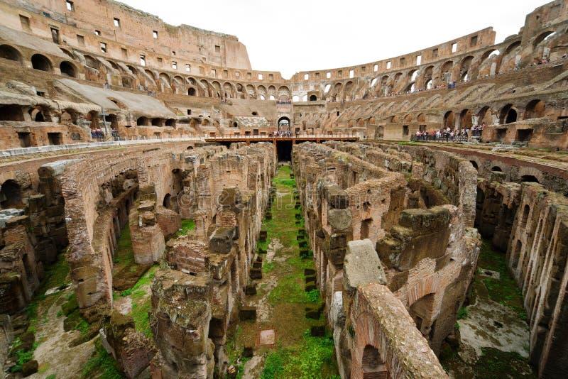 Dentro de Colosseum en Roma imágenes de archivo libres de regalías