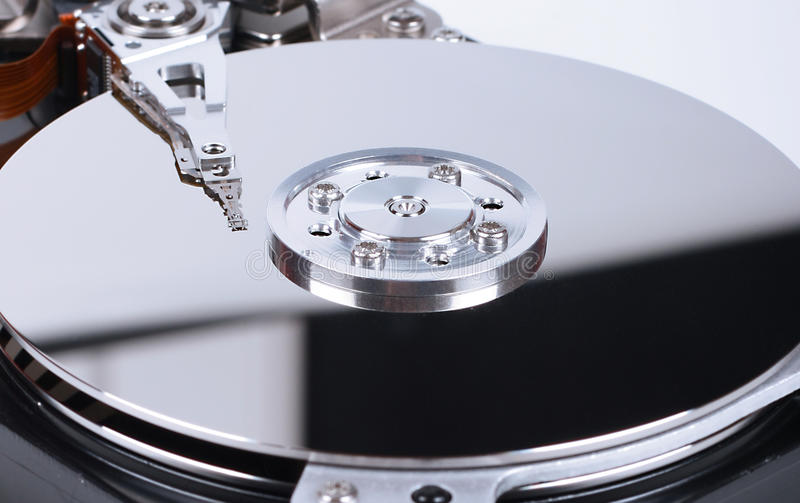 Dentro de disco duro fotos de archivo