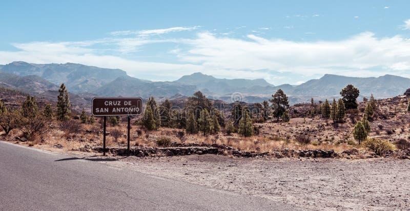 Dentro de Gran Canaria fotografía de archivo