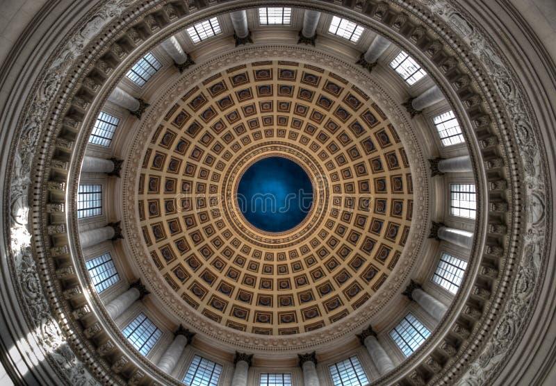 Dentro de la bóveda del capitolio de los E.E.U.U. fotografía de archivo