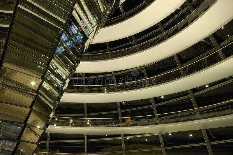 Dentro de la cúpula, Berlín foto de archivo
