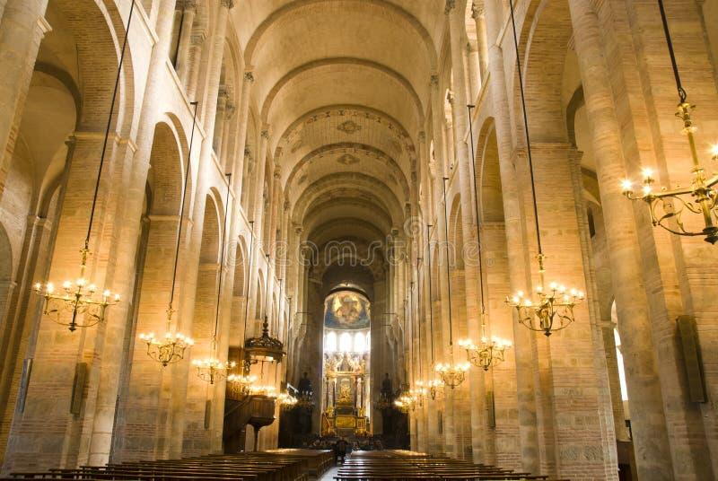 Dentro de la catedral foto de archivo