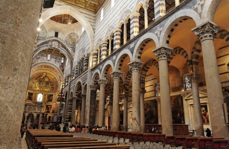 Dentro de la catedral de Pisa imágenes de archivo libres de regalías