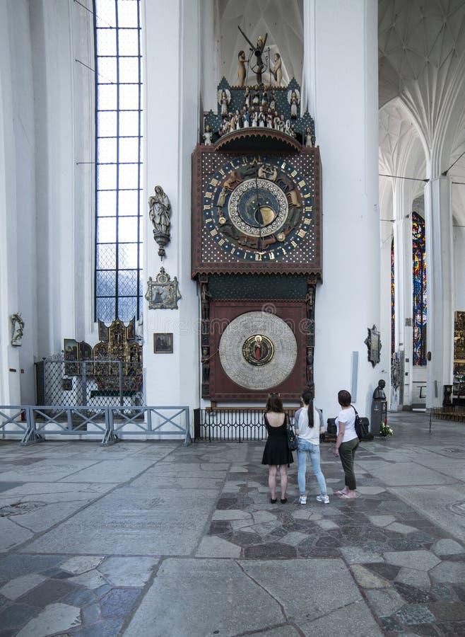 Dentro de la catedral de St Mary Gdansk Polonia Europa foto de archivo
