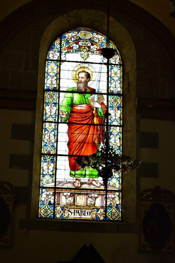 Dentro de la Catedral de Oaxaca de San Pablo fotos de archivo