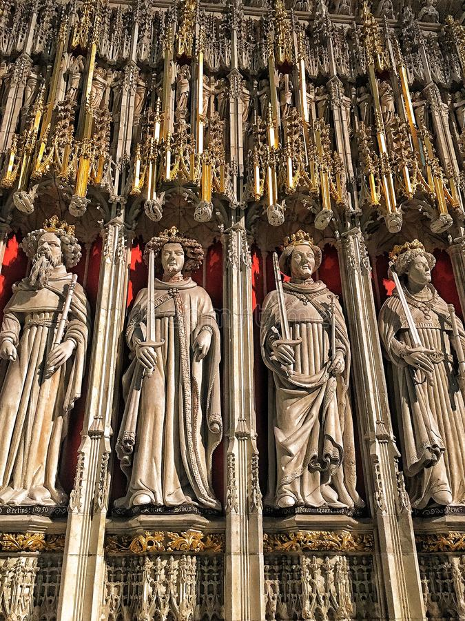 Dentro de la iglesia de monasterio de York foto de archivo libre de regalías