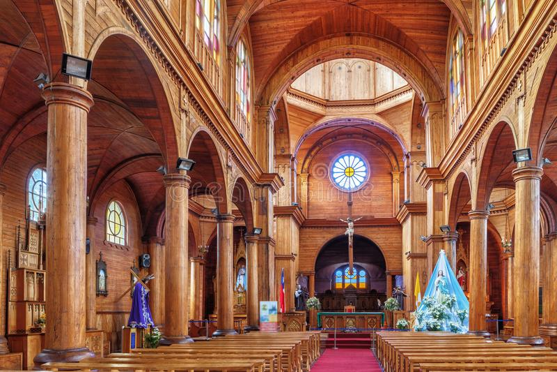 Dentro de la iglesia St Francis, es el templo católico principal del th fotos de archivo libres de regalías