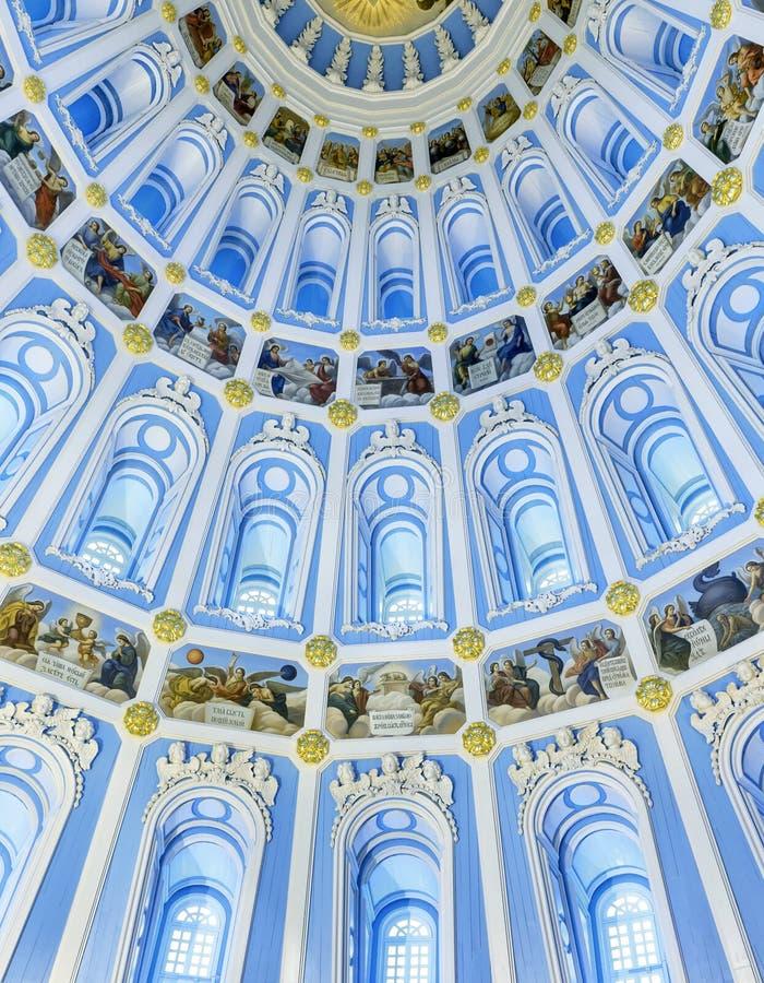 Dentro de la Rotonda de la catedral de la resurrección en nueva Jerusalén fotos de archivo