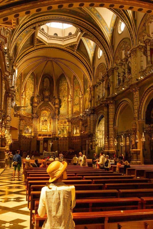 Dentro de Monserrate monastry imagens de stock