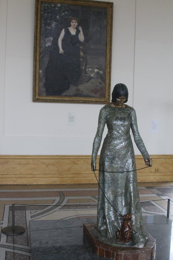 Dentro de museo, París Francia imagen de archivo