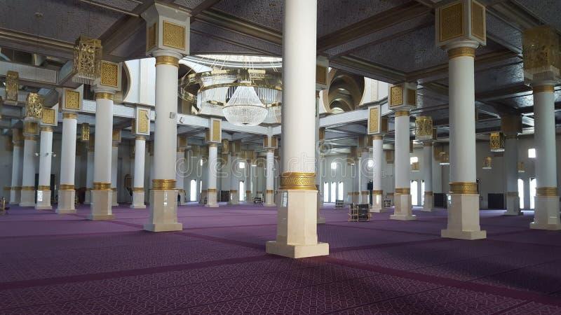 Dentro de nueva mezquita, Orán Argelia fotografía de archivo