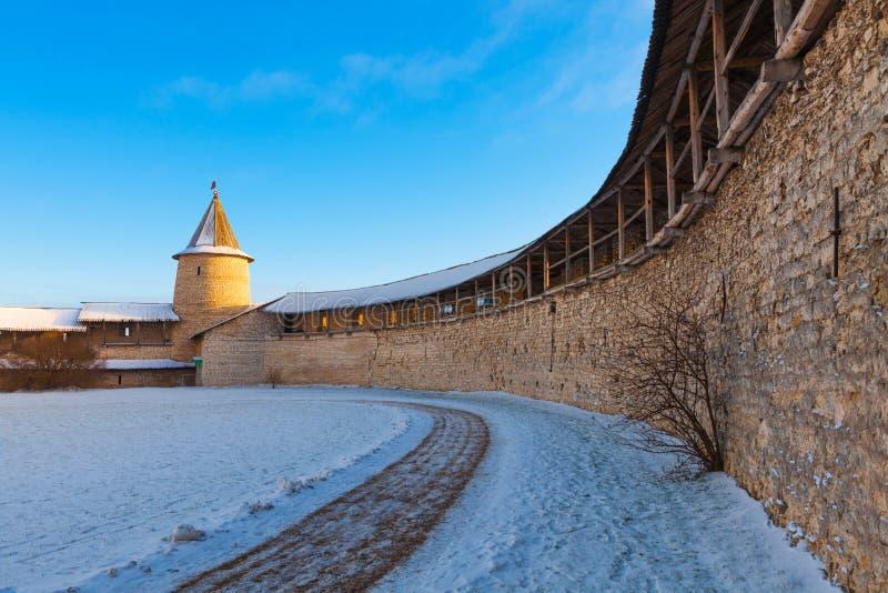 Dentro de Pskov Kremln imagen de archivo libre de regalías
