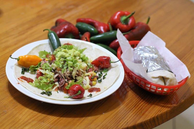 Dentro de um Burrito imagens de stock royalty free