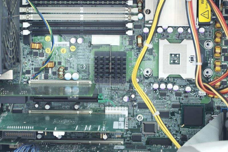 Dentro de um computador imagens de stock royalty free