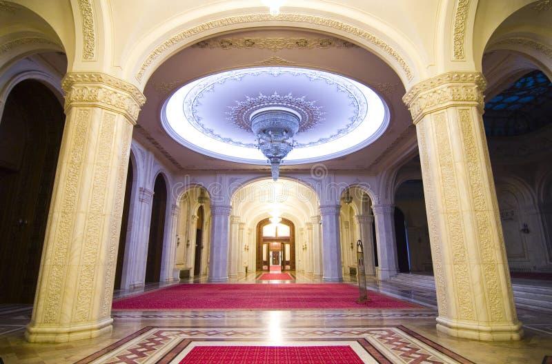 Dentro de um palácio fotos de stock royalty free