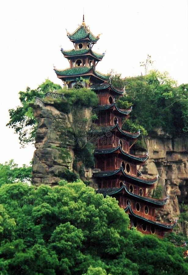 Dentro de um templo em China fotos de stock royalty free