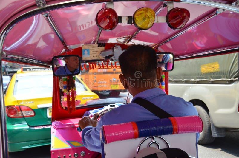 Dentro de um veículo do tuk de Tuk imagem de stock royalty free