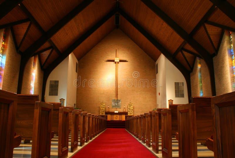 Dentro de uma igreja