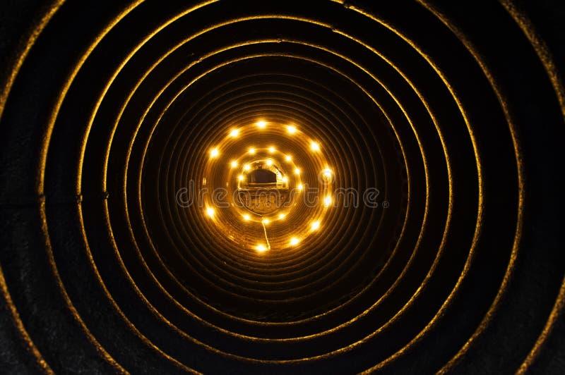 Dentro de uma tubulação fotografia de stock