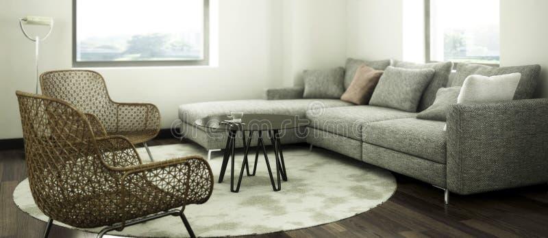 Dentro de un apartamento enfocado ilustración del vector