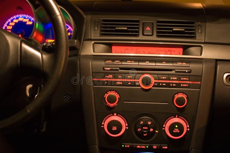 Dentro de un coche foto de archivo libre de regalías