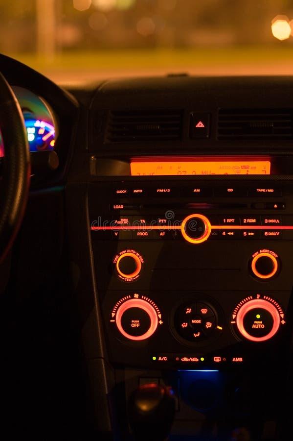 Dentro de un coche imagen de archivo