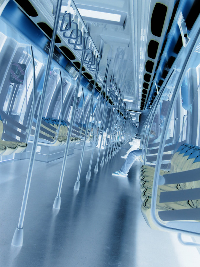 Dentro de un tren fotos de archivo