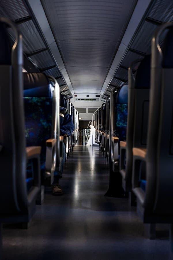 Dentro de un tren de alta velocidad foto de archivo libre de regalías