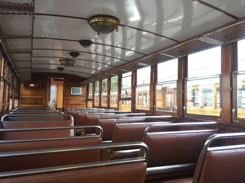 Dentro de un tren del indicador estrecho 1912 fotos de archivo libres de regalías