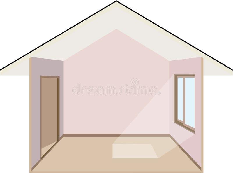 Dentro de una casa ilustración del vector