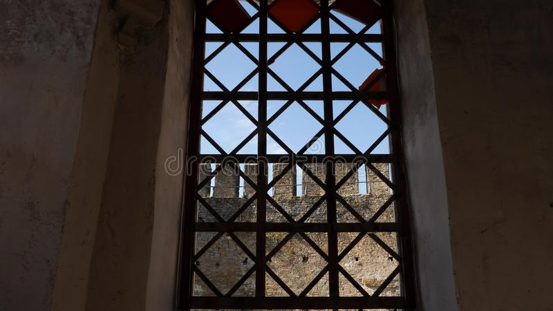 Dentro de velho a fortaleza de Khotyn fotos de stock royalty free