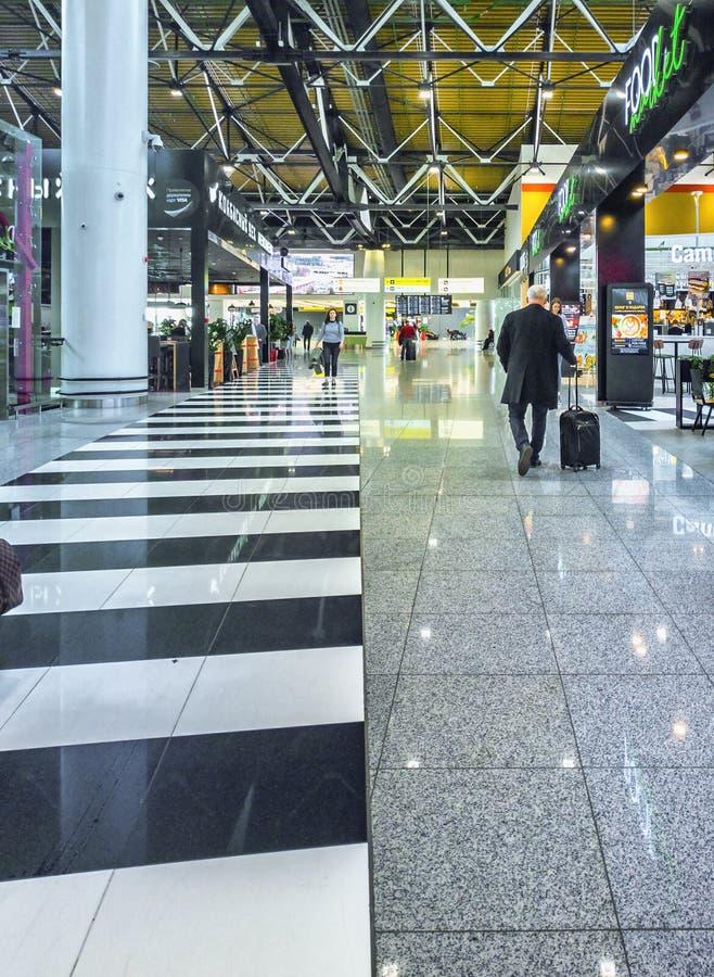Dentro del aeropuerto internacional de Sheremetyevo, Moscú, Rusia fotografía de archivo libre de regalías