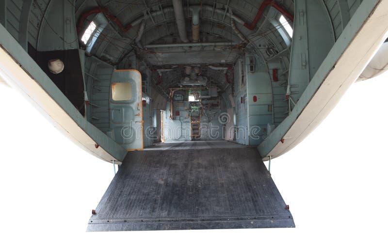 Dentro del avión militar imágenes de archivo libres de regalías