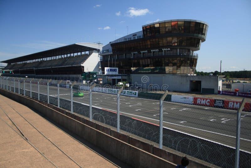 Dentro Del Circuito Del 24h De Le Mans Imagen editorial
