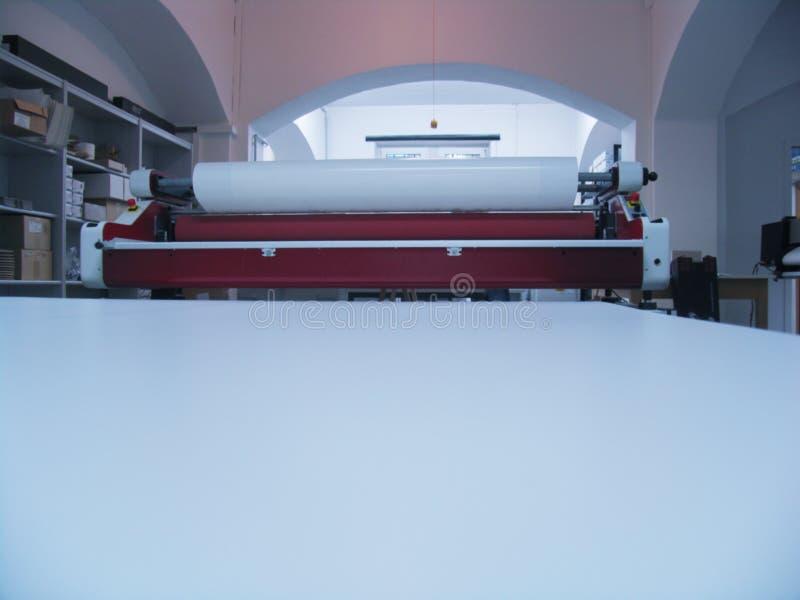 Dentro del departamento de impresión foto de archivo