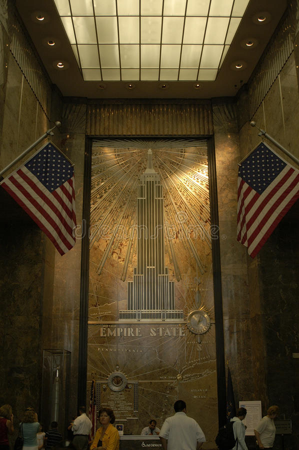 Dentro del Empire State imágenes de archivo libres de regalías