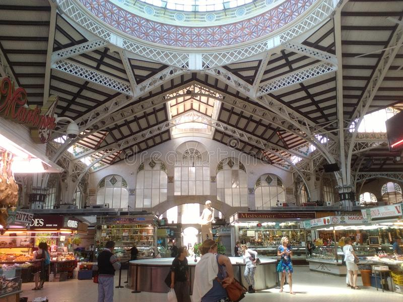 Dentro del mercato di Valencia Spain fotografia stock