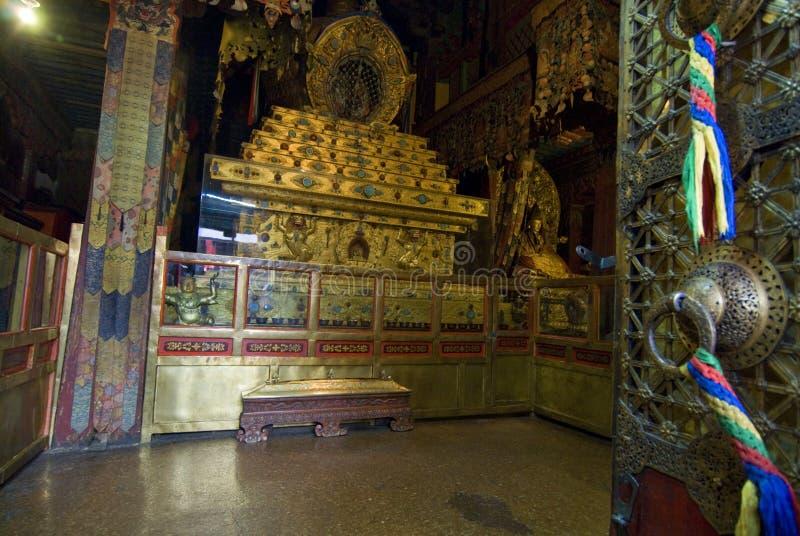 Dentro del palacio de Potala fotos de archivo libres de regalías