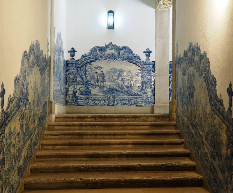 Dentro del sao Vicente de Fora en Lisboa adentro fotos de archivo libres de regalías