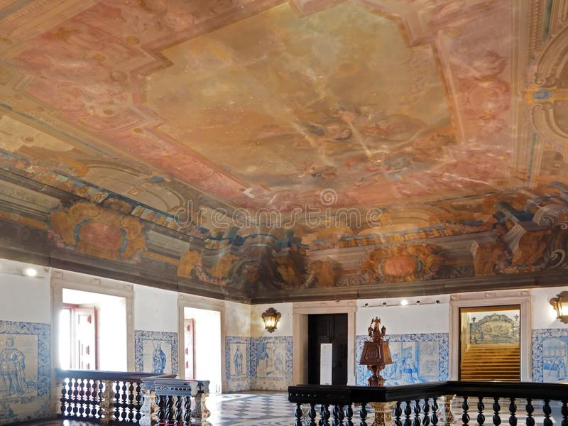 Dentro del sao Vicente de Fora en Lisboa adentro imagen de archivo libre de regalías