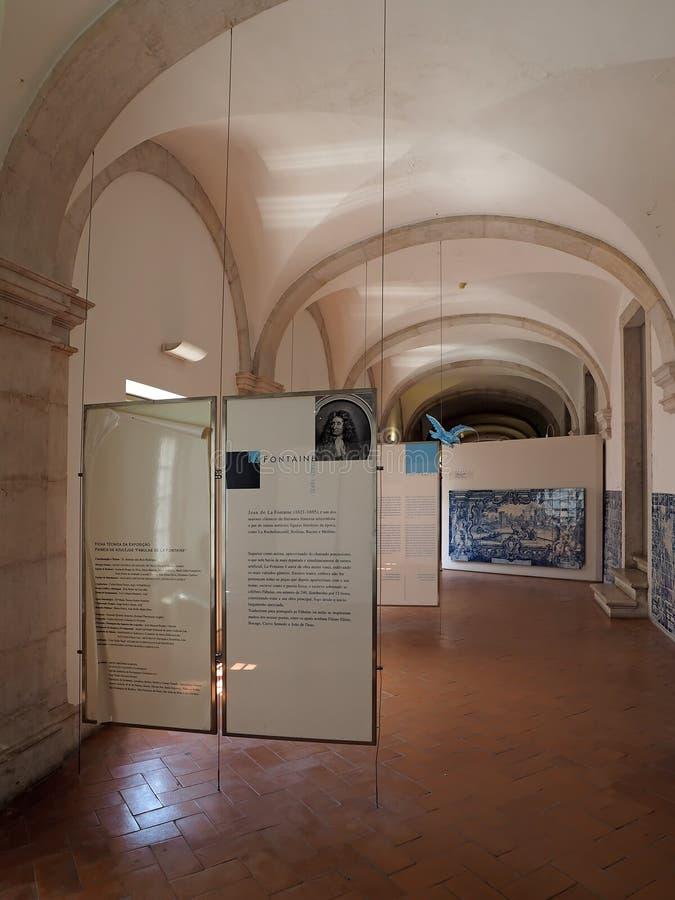 Dentro del sao Vicente de Fora en Lisboa adentro foto de archivo