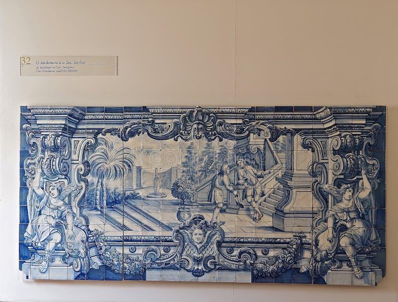 Dentro del sao Vicente de Fora en Lisboa adentro imágenes de archivo libres de regalías