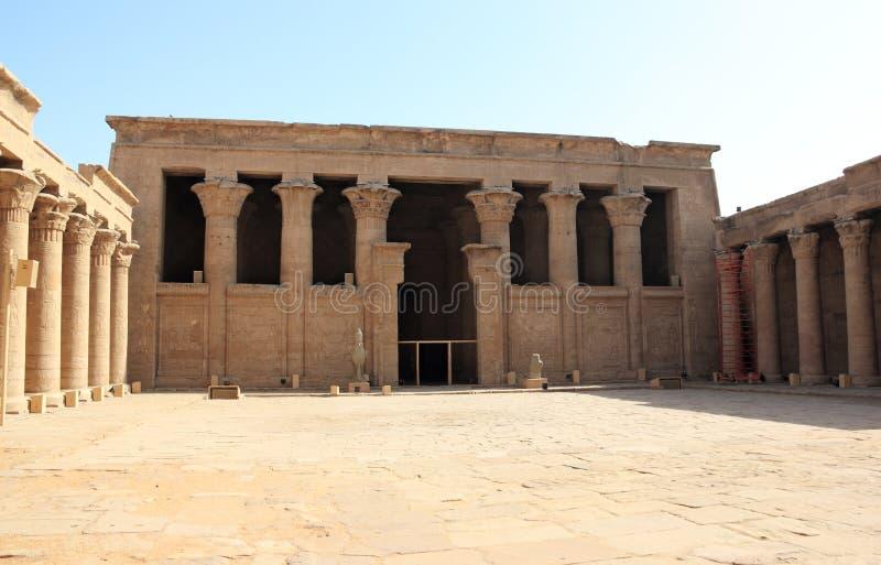 Dentro del templo de Edfu Egipto fotos de archivo libres de regalías