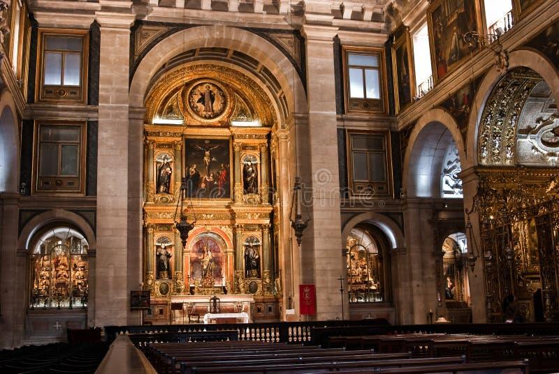 Dentro della basilica da Estrela, Lisbona immagini stock libere da diritti