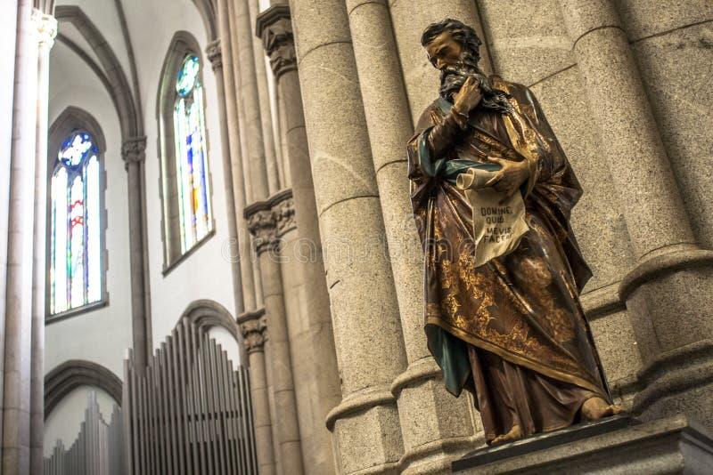 Dentro della cattedrale del Metropolitan del Se fotografia stock