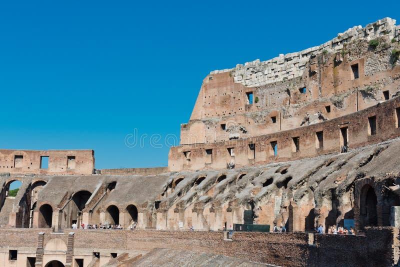 Dentro di Colosseum a Roma, fotografia stock libera da diritti
